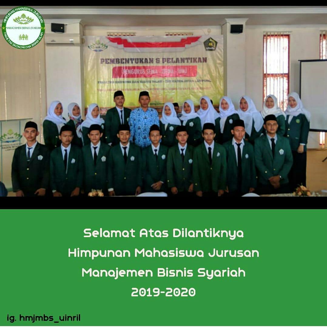 Pelantikan Hmj Manajemen Bisnis Syariah Manajemen Bisnis Syariah Fakultas Ekonomi Dan Bisnis Islam Uin Raden Intan Lampung